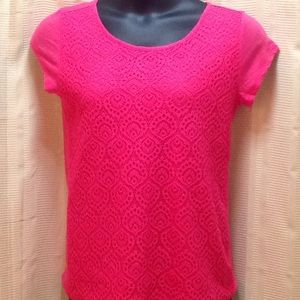 Ladies Lace Front Tee
